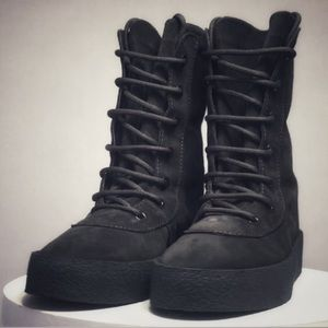 Suede Lace Up Crepe Military Combat Boots